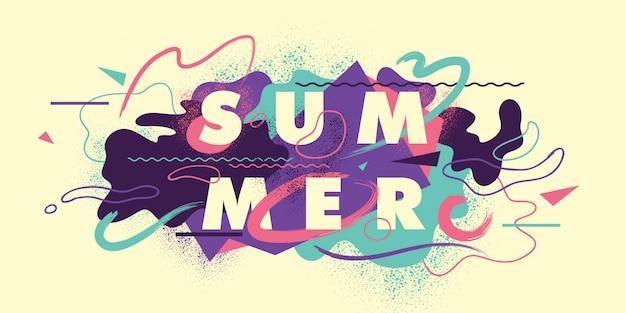 Sommer hintergrund design Premium Vektoren