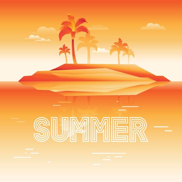Sommer hintergrund Premium Vektoren