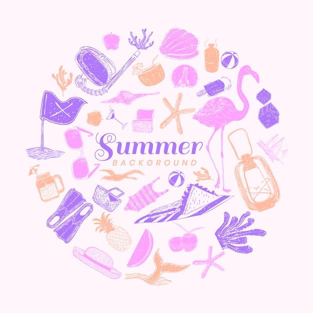 Sommer hintergrund Kostenlosen Vektoren