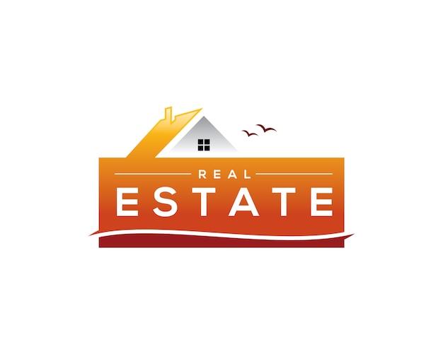 Sommer-immobilien-logo Premium Vektoren