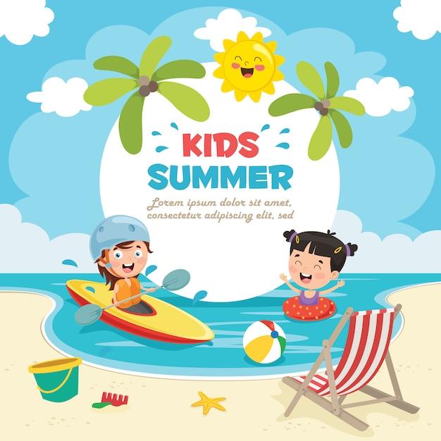 Sommer kinder Premium Vektoren