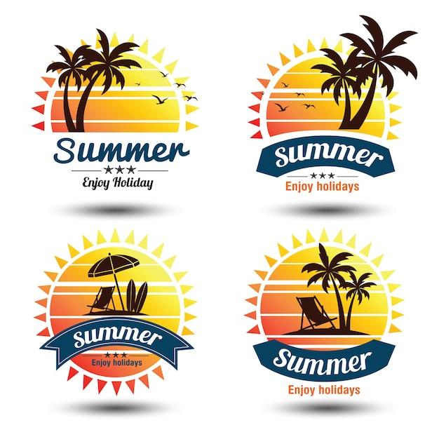 Sommer-label Premium Vektoren