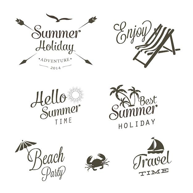 Sommer-logo-vektoren Kostenlosen Vektoren