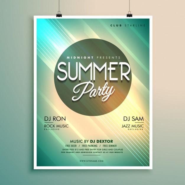 Sommer-Musik-Party-Flyer Vorlage mit Ereignisdetails | Download der ...