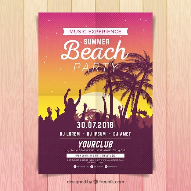 Sommer-party-poster Kostenlosen Vektoren