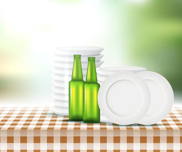 Sommer-picknick-design Premium Vektoren