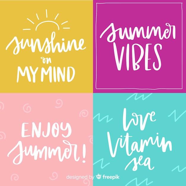 Sommer schriftzug Kostenlosen Vektoren