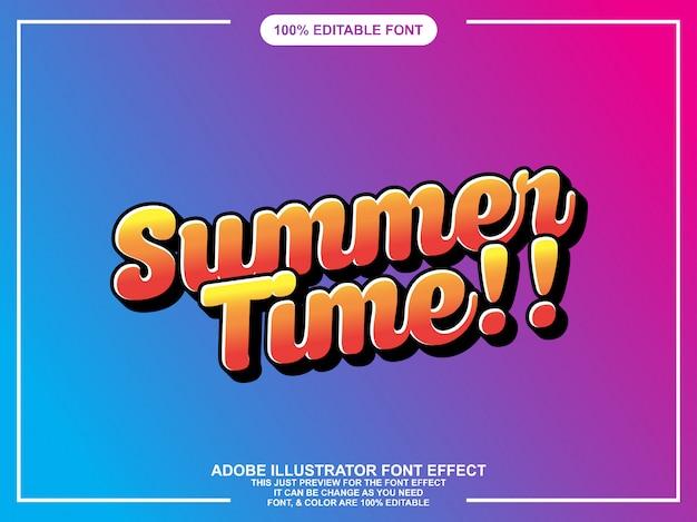 Sommer skript grafikstil einfach bearbeitbare schriftart Premium Vektoren