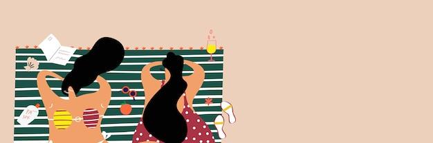 Sommer strand banner Kostenlosen Vektoren