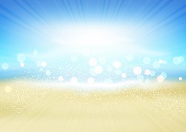 Sommer strand hintergrund Kostenlosen Vektoren