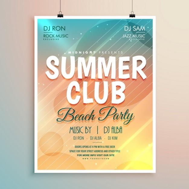 Sommer-Strand-Party Banner Flyer Vorlage Design | Download der ...