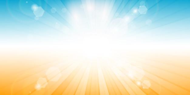 Sommer themenorientiertes bannerdesign Kostenlosen Vektoren