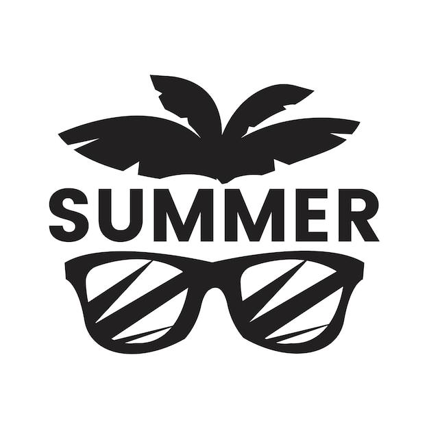 Sommer- und feiertagstypographieillustration Kostenlosen Vektoren