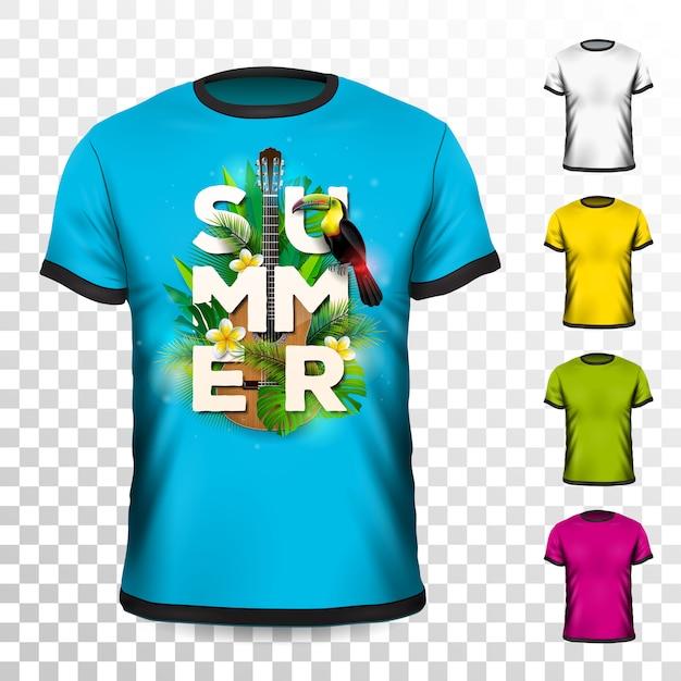 Sommer urlaub t-shirt design Premium Vektoren