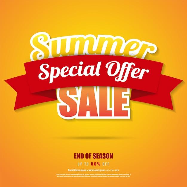 Sommer-verkauf-banner-poster Premium Vektoren