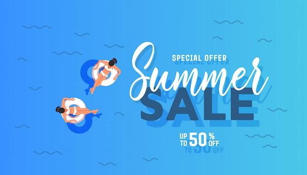 Sommer verkauf banner Premium Vektoren
