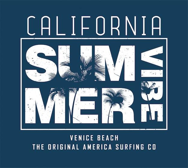 Sommer vintage typografie Premium Vektoren