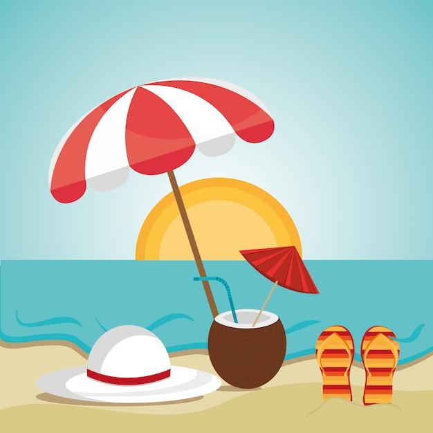 Sommerdesign. Kostenlosen Vektoren