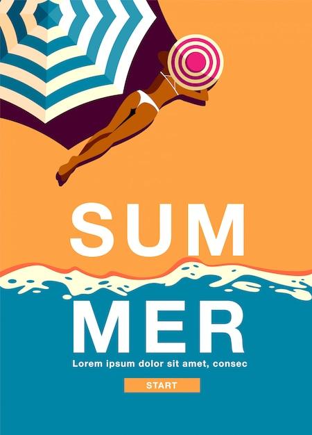Sommerferien-banner Premium Vektoren