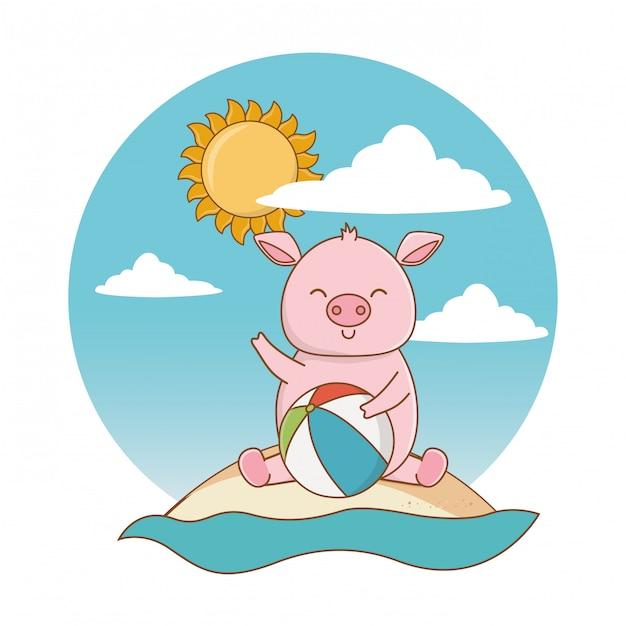 Sommerferien entspannen sich karikatur Kostenlosen Vektoren