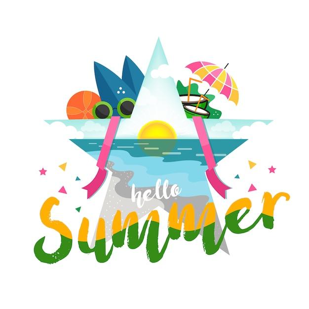 Sommerferien hintergrund Premium Vektoren