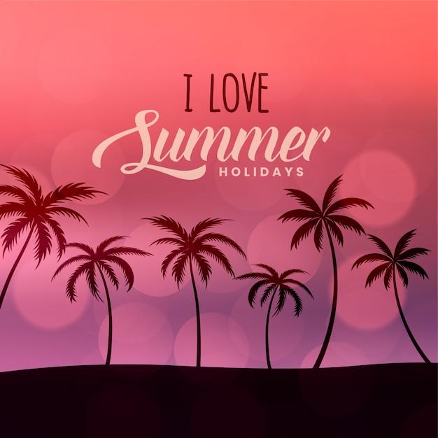 Sommerferien-strandszenenhintergrund Kostenlosen Vektoren