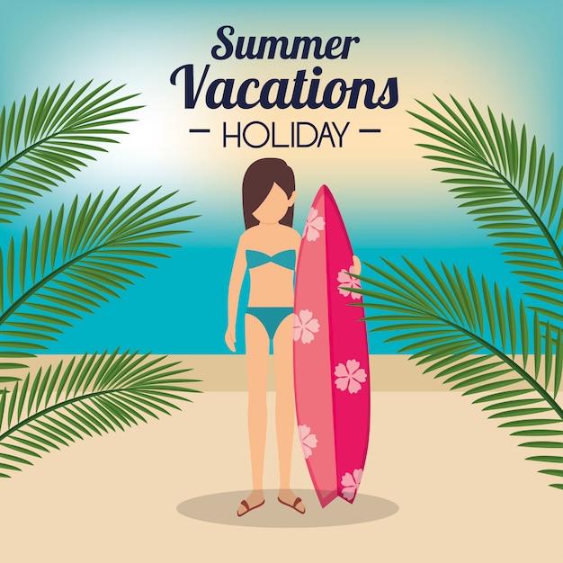 Sommerferien urlaub Kostenlosen Vektoren