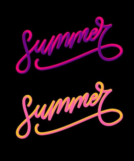 Sommerferienslogan mit ananas und tropischer blume Premium Vektoren