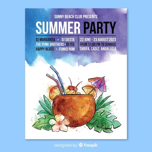 Sommerfest-flyer Kostenlosen Vektoren