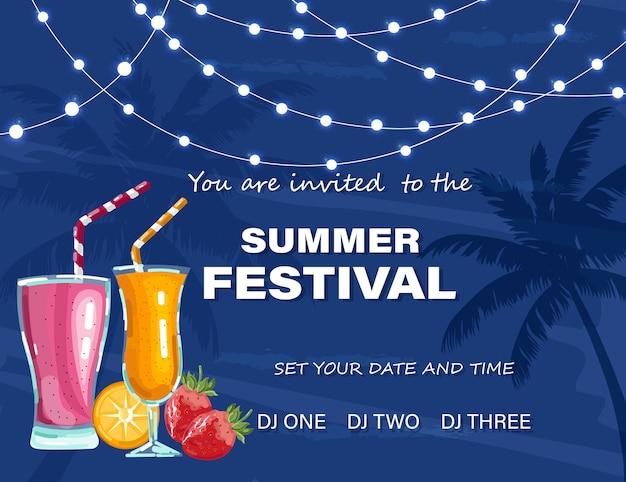 Sommerfest plakat Premium Vektoren