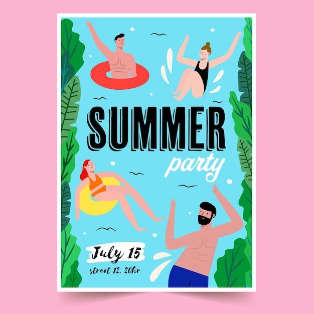 Sommerfestplakatvorlage Kostenlosen Vektoren