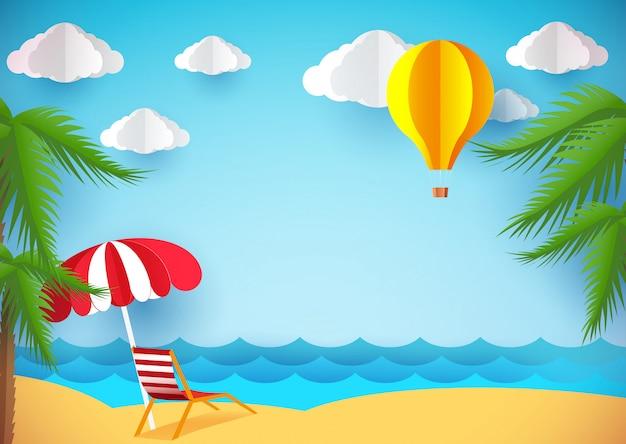 Sommerflieger oder hintergrund Premium Vektoren