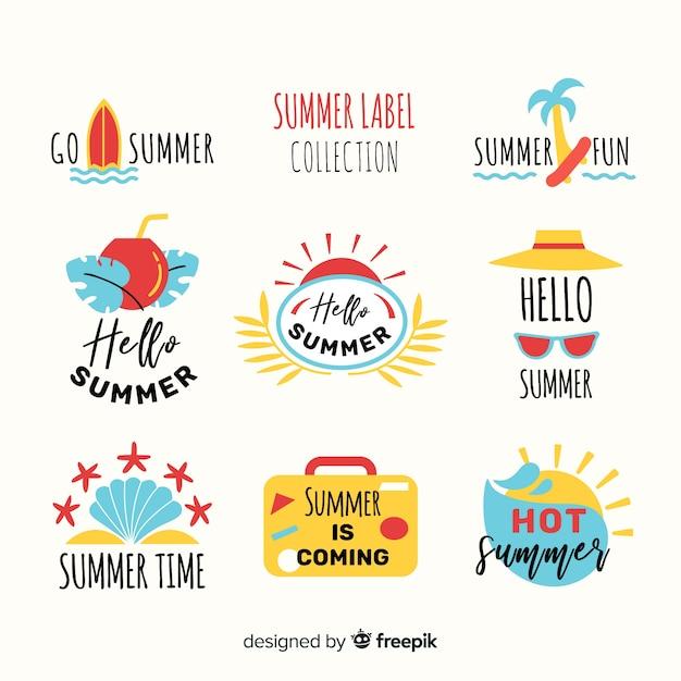 Sommerlabel collectio Kostenlosen Vektoren