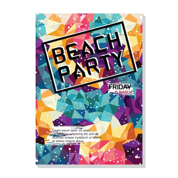 Sommernacht Strand Party Poster Flyer Vorlage | Download der Premium ...