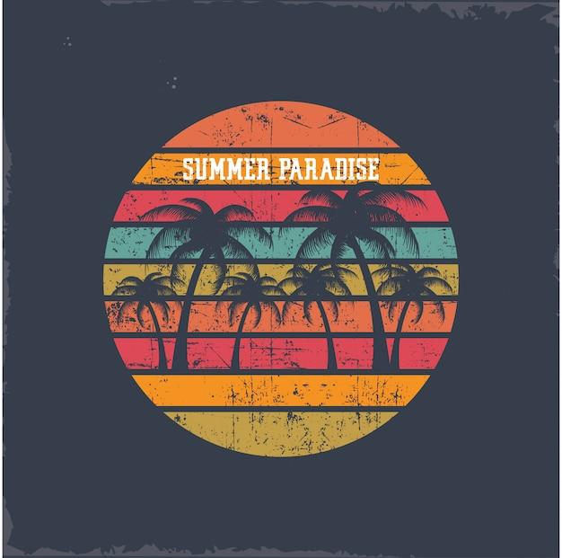 Sommerparadies Premium Vektoren