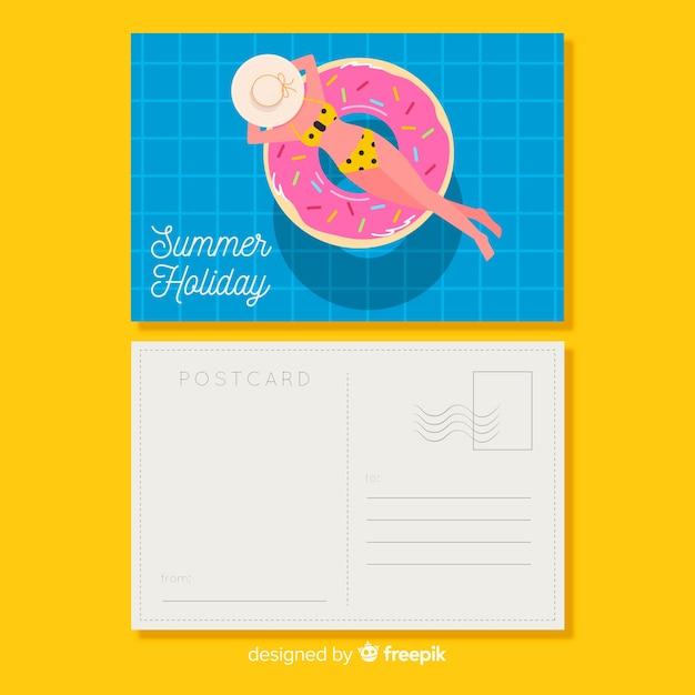 Sommerpostkarte Kostenlosen Vektoren