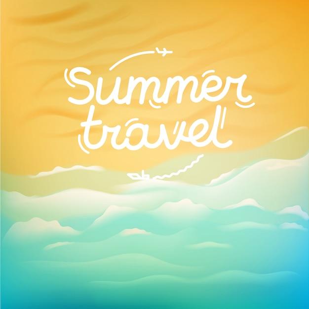 Sommerreiseabbildung Premium Vektoren