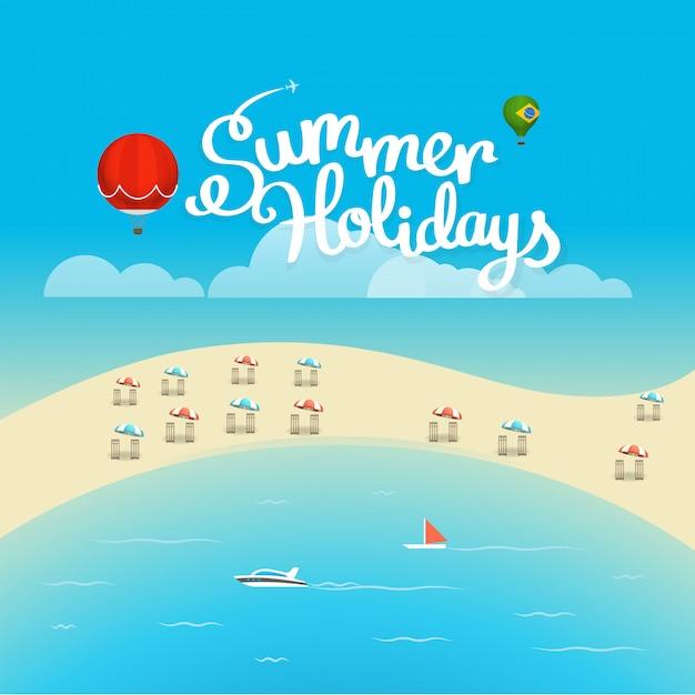 Sommersaison poster Premium Vektoren
