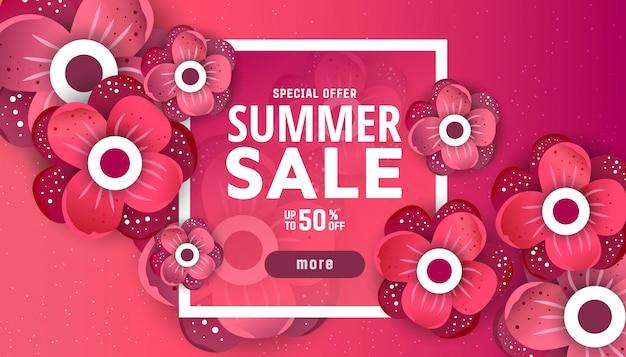 Sommerschlussverkauf banner designvorlage. Premium Vektoren