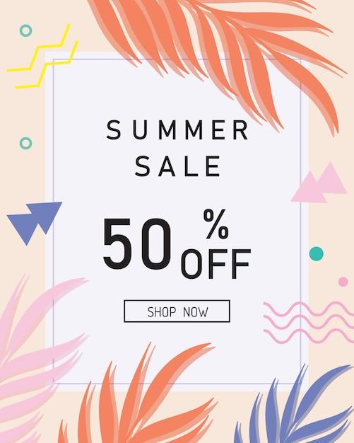 Sommerschlussverkauf banner Premium Vektoren