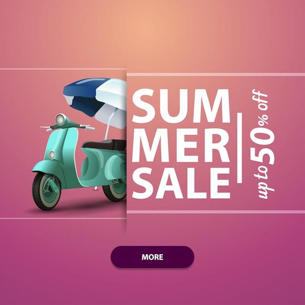 Sommerschlussverkauf, quadratisches banner für ihre website, werbung und verkaufsförderung Premium Vektoren