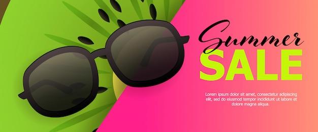 Sommerschlussverkauf rosa banner Kostenlosen Vektoren