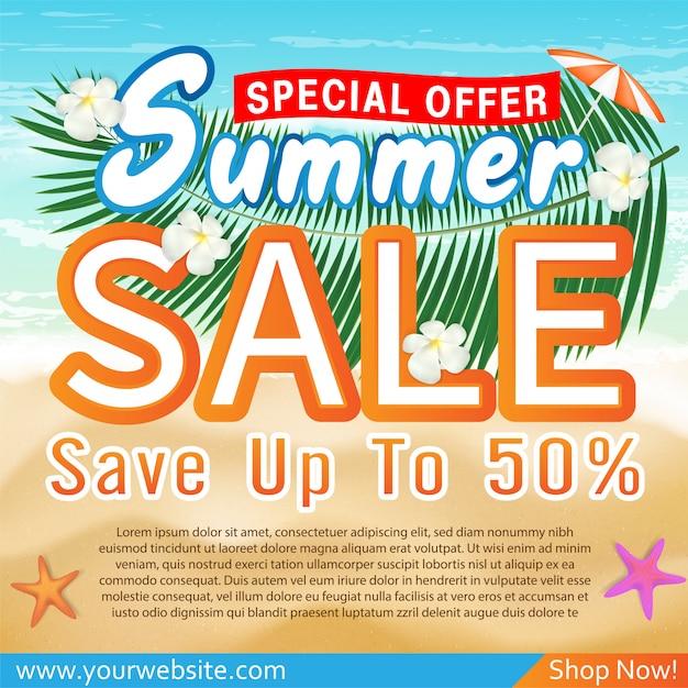 Sommerschlussverkauf sonderangebot deal promotion banner vorlage Premium Vektoren