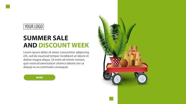 Sommerschlussverkauf und rabattwoche Premium Vektoren