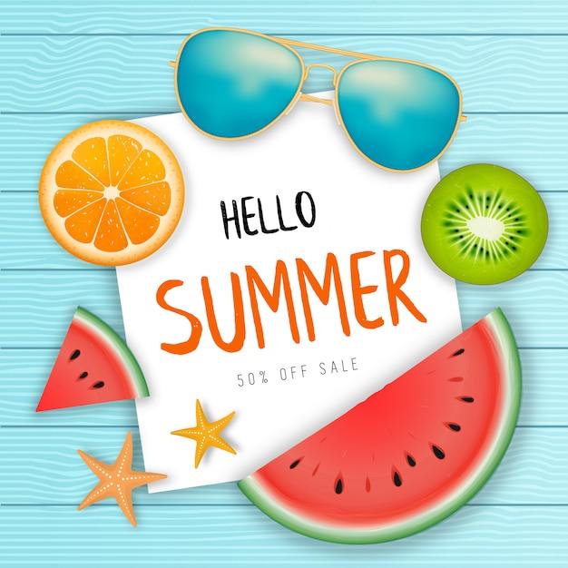 Sommerschlussverkauf-web-banner. Premium Vektoren