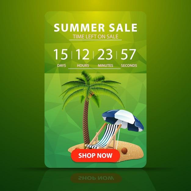 Sommerschlussverkauf, webbanner mit countdown bis zum verkaufsende Premium Vektoren
