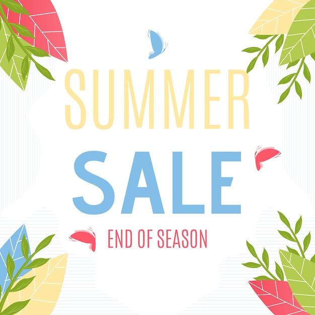 Sommerschlussverkauf werbung. grand price fall Kostenlosen Vektoren