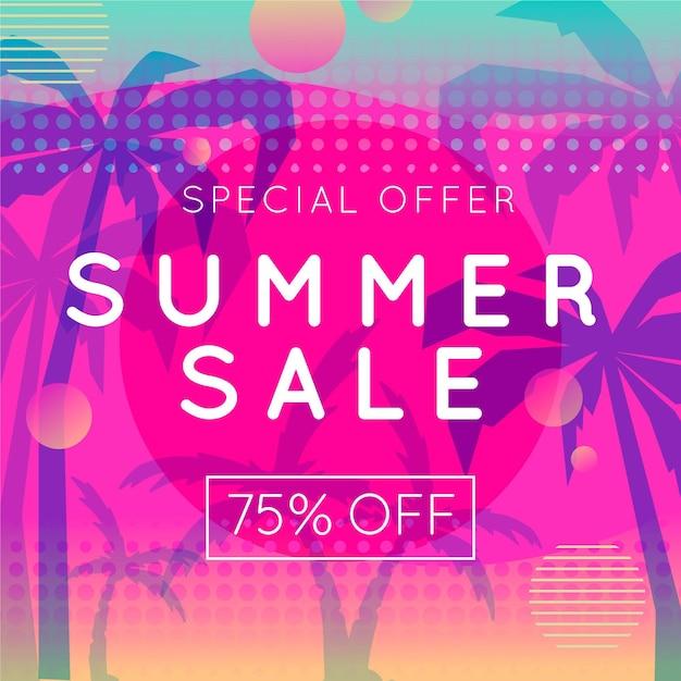 Sommerschlussverkauf Kostenlosen Vektoren