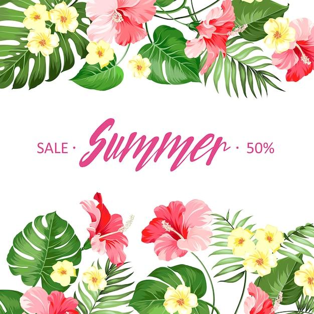 Sommerschlussverkaufkarte. Premium Vektoren