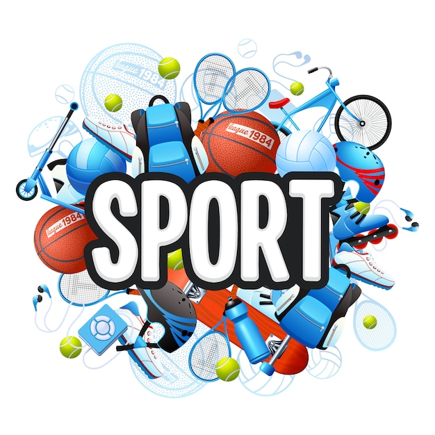 Sommersport-konzept Kostenlosen Vektoren